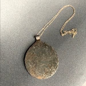 Hammered spoon necklace with sterling silver chain